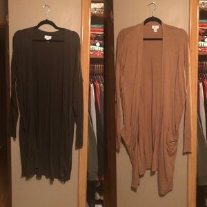 TWO LONG OLD NAVY SWEATERS